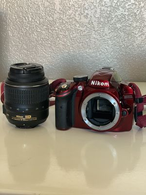 Red Nikon D3200 Reflex Digital Camera with 16GB memory card for Sale in Scottsdale, AZ