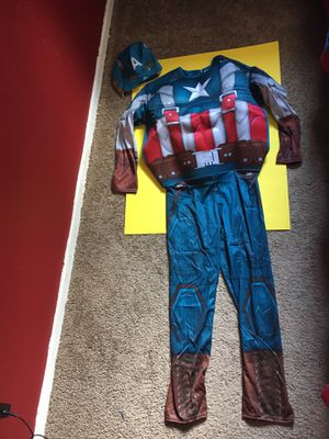Captain America custom, new, only $15.99. U.S.A. Size 12-14 child for Sale in Humble, TX