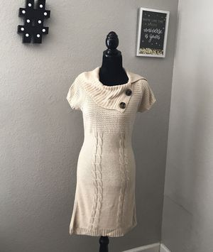 Pink Rose Women's Knit Top Tunic Short Sleeves Beige Sz Large for Sale in Las Vegas, NV
