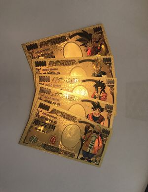 5x Dragonball Z gold money cards for Sale in West Palm Beach, FL