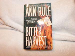 Ann Rule Hardback book Bitter Harvest for Sale in Ripley, WV