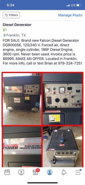 Diesel generator for Sale in Franklin, TX
