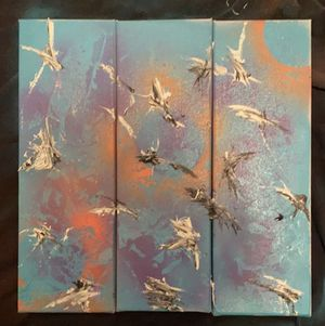Abstract painting 3x (12x4) for Sale in College Park, GA