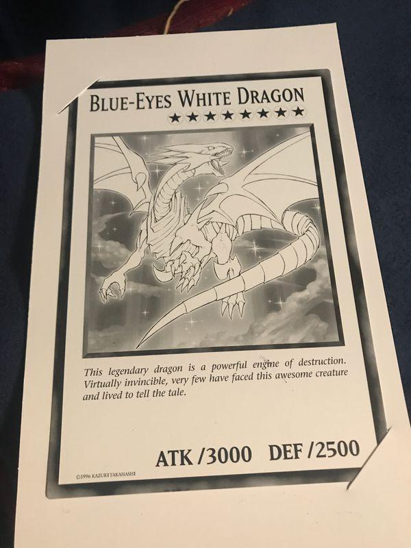 Blue Eyes White Dragon (giant card)
