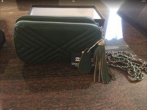 Chanel bag,purse( dark Green color) for Sale in El Monte, CA