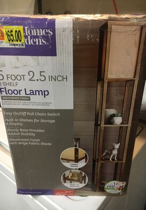 Better homes 5ft 3 shelf floor lamp for Sale in Riverside, CA