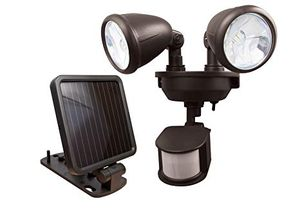 MAXSA Solar-Powered LED Dual-Head Motion Activated Security Lights for Porches, Sheds, Patios, & Barns, Dark Bronze 44416 for Sale in Delray Beach, FL
