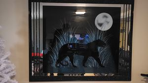 Laurel Painted Mirror Black Panther 4ftX5ft for Sale in Baltimore, MD