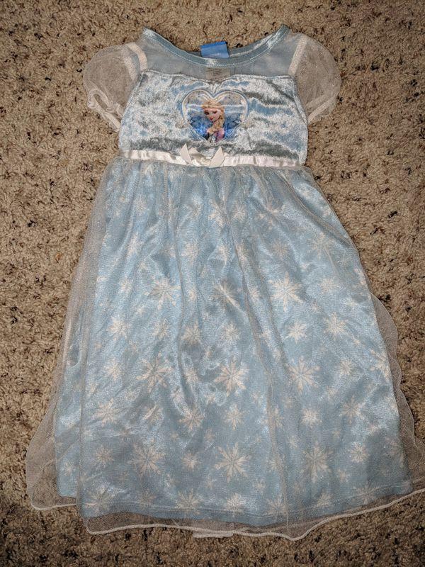 Little girl Elsa pajama dress