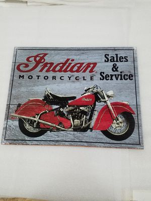 Indian motorcycle bike sales service metal sign for Sale in Vancouver, WA