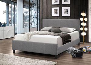 Brand New Full Size Grey Linen Upholstered Platform Bed for Sale in Baltimore, MD
