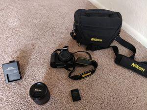 Nikon D 3200 DSLR Camera with AF-S Nikkor 18-135 mm 1:3.5-5.6G ED and a camera bag for Sale in Oak Creek, WI