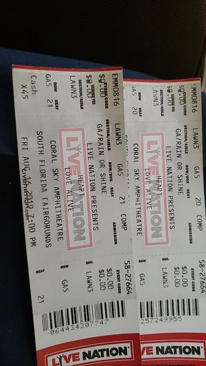 2 lawn tickets to HEART concert in west palm beach $40 obo for Sale in Stuart, FL