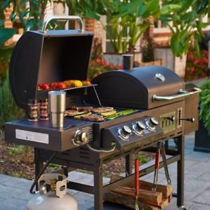 Outdoor Gourmet Barbecue Grill and Smoker Box Hybrid BBQ Gas/charcoal 36 000 BTU for Sale in Stockbridge, GA