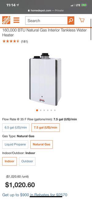 water heater for Sale in Menifee, CA