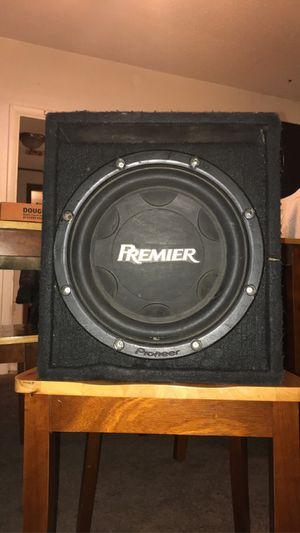 Premier pioneer 12in speaker in box for Sale in Tulsa, OK