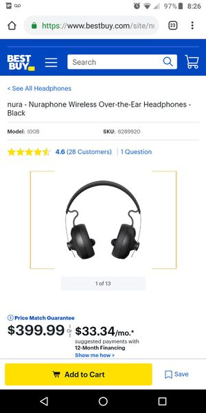 NuraPhones Headphones. FREE Samsung Tablet included for Sale in Aloma, FL