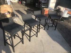 Nice barstools 50 for all Please text when ready to pick up the post up still available for Sale in Fresno, CA