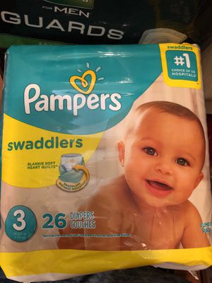 Pampers Swaddlers size 3 diapers for Sale in Tampa, FL