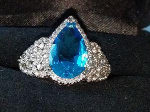 Genuine aquamarine ring for Sale in Mifflinburg, PA