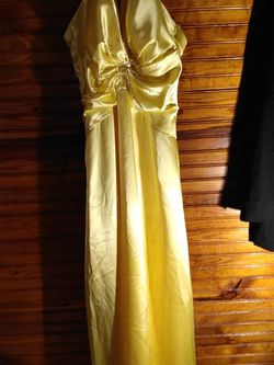 Yellow Halter Prom Dress By Life for Sale in Lafayette,  TN