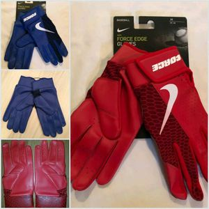 Brand New Nike Force Adult Batting gloves Red or Blue Adult Sizes Small, Medium, Large, XL for Sale in City of Industry, CA