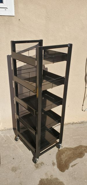 Metal Shelves on wheels for Sale in Rialto, CA