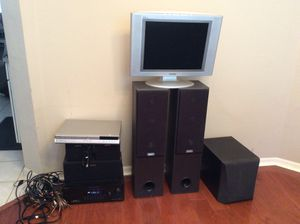 Sony Speakers / tv / receiver/ DVD player and all wires / cable for Sale in Tampa, FL
