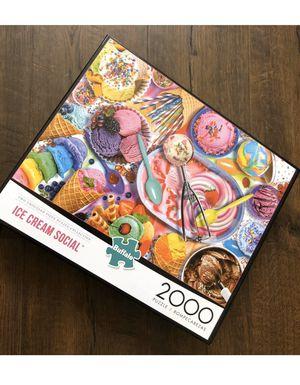 Buffalo Games - Ice Cream Social - 2000 Piece Jigsaw Puzzle for Sale in Visalia, CA