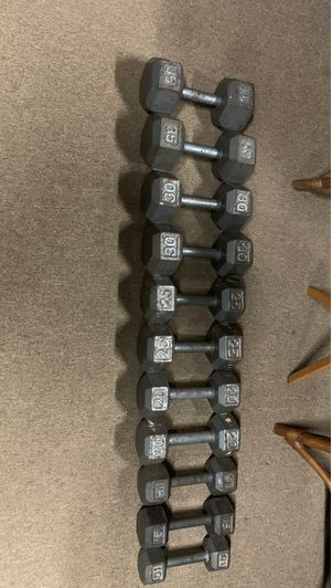Dumbbells 35 Lbs to 10lbs for Sale in Fairfax, VA