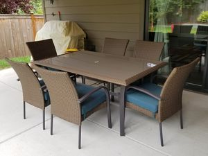 7 piece chairs and table patio furniture for Sale in Kirkland, WA