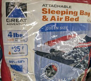 Queen size Airbed with attachable sleeping bad for Sale in Miami, FL