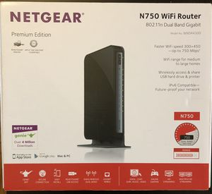 Netgear N750 WiFi Router Premium Edition for Sale in Pittsburgh, PA