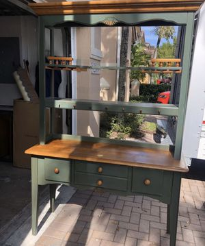 Buffet table/cabinet/desk/organizer/win glass shelf/shelf/ hutch for Sale in Miami, FL