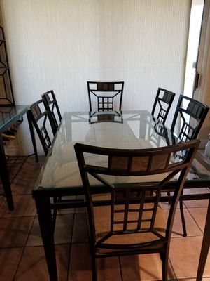 Kitchen set with Tile & Glass inset for Sale in Las Vegas, NV