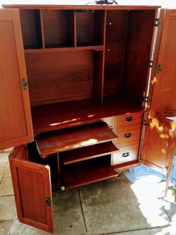 Archivist Computer Desk With Hutch Drawers Doors Office Furniture for Sale in Los Angeles,  CA