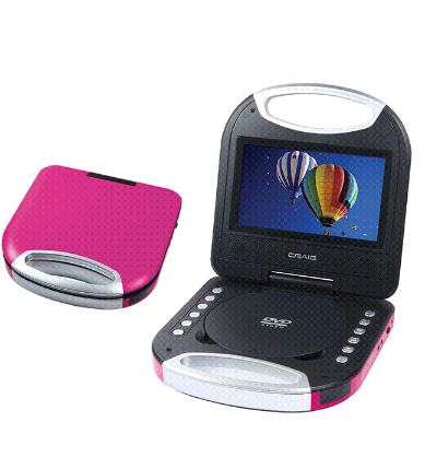 Craig 7 in portable DVD/CD player