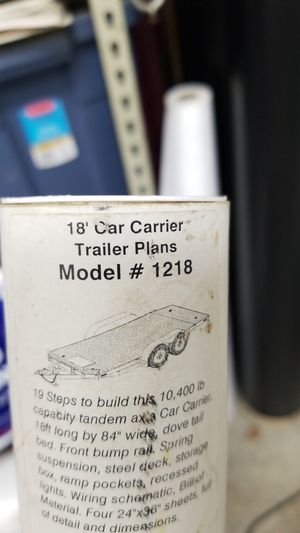 18' car trailer blueprints for Sale in Ravenna, OH