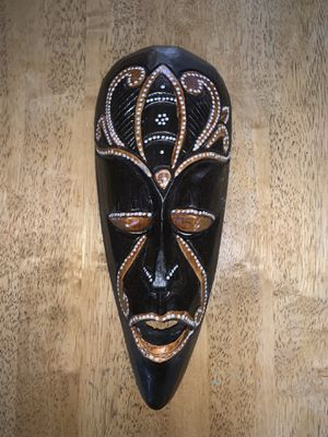 Hand crafted wooden mask from Indonesia for Sale in Hattiesburg, MS