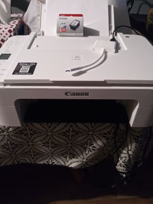 Canon Pixma TS3122 model with xl color ink cartridge and computer cord for Sale in San Antonio, TX