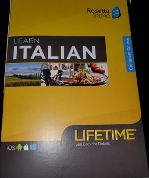 Rosetta Stone Italian for Sale in Berlin, NJ