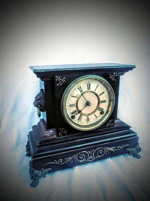 Antique cast iron Ansonia clock circa 1885 0riginal finish .works fine for Sale in Miami Beach, FL