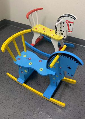 Brand new in box $20 each wooden rocking horse ride on kids toy baby toddler age 2+ for Sale in El Monte, CA