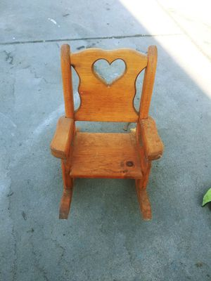 Wood doll chair for Sale in Fresno, CA