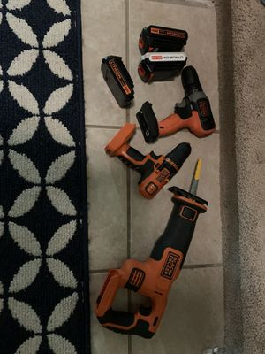 Black and decker 3 power full battery's , used once 88$ 20v tools for Sale in Pflugerville, TX