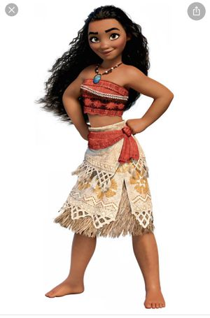 Original Disney store princess Moana costume size 9-10 for Sale in Los Angeles, CA