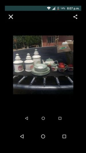 Home decorations comes with plates and cups for Sale in Riverside, CA