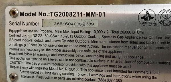 Dual Flame 20,000BTU Camper Grill