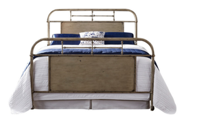Brand New vintage cream full size metal bed frame for Sale in High Point, NC