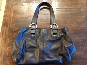 Coach bag satchel purse black for Sale in Snohomish, WA